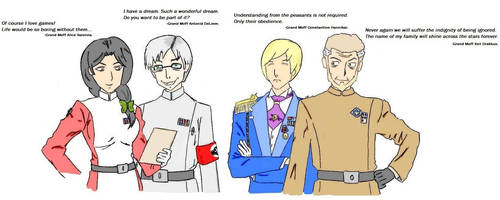 Imperial Council (colored) by DeMarchese