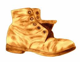 Old Shoe by ARTificialphanTOM