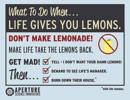 life gives u lemons