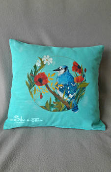 Painting on a cushion