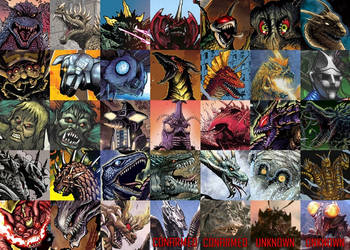IDW's Godzilla Roster (So Far) (Updated) by Mr-X-The-Kaiju-Freak