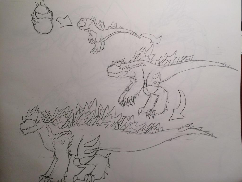 Line Drawing Monster : Brozilla in monster legends by itorchedu on deviantart