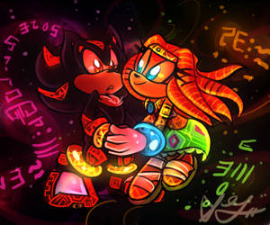 Shadow and Tikal by Saviebelle