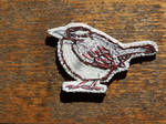 Carolina wren brooch