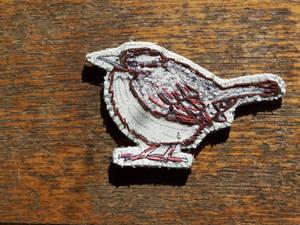 Carolina wren brooch