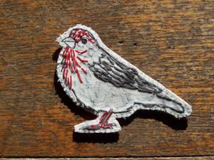 house finch brooch