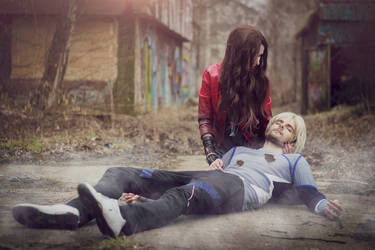 Quicksilver and Scarlet Witch by Kuromaru-dono