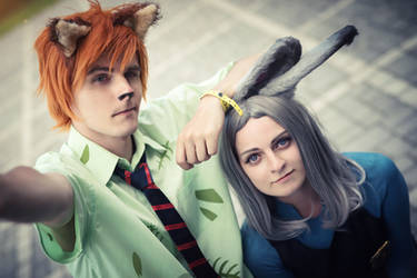 Nick and Judy selfie! by Kuromaru-dono
