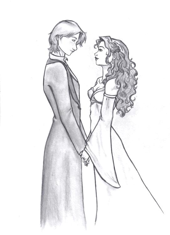 Ron and hermione fan art wedding cakes