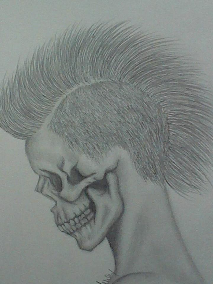 skull by ashkabibbles