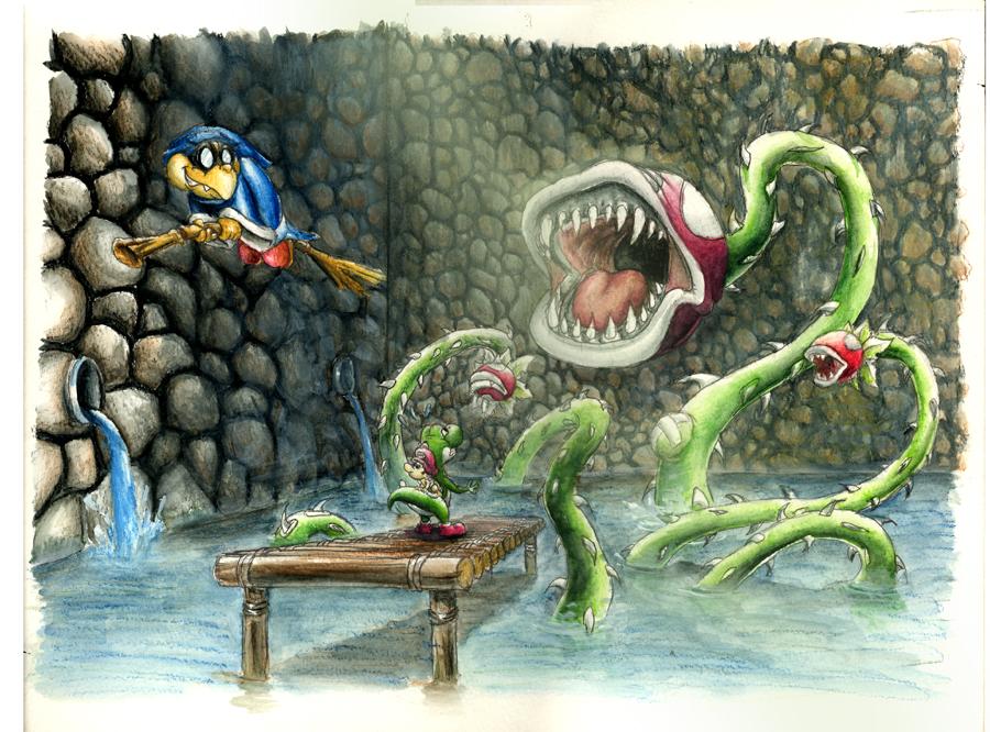 Wrath of King Piranha Plant by pearlzu