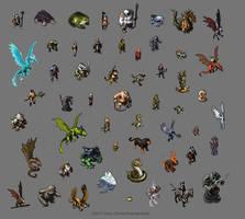 PoxNora Page of Sprites by pearlzu