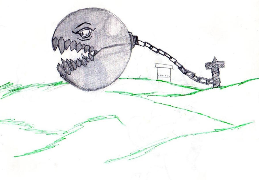Mario Chain Chomp by dr4w3r on DeviantArt