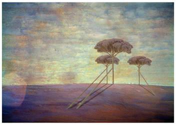 Decor avec des arbres violets by kisskornel