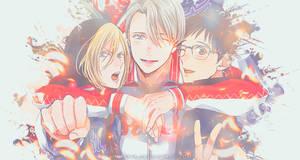 Yuuri, Victor, Yuri - Yuri on Ice by Kronova
