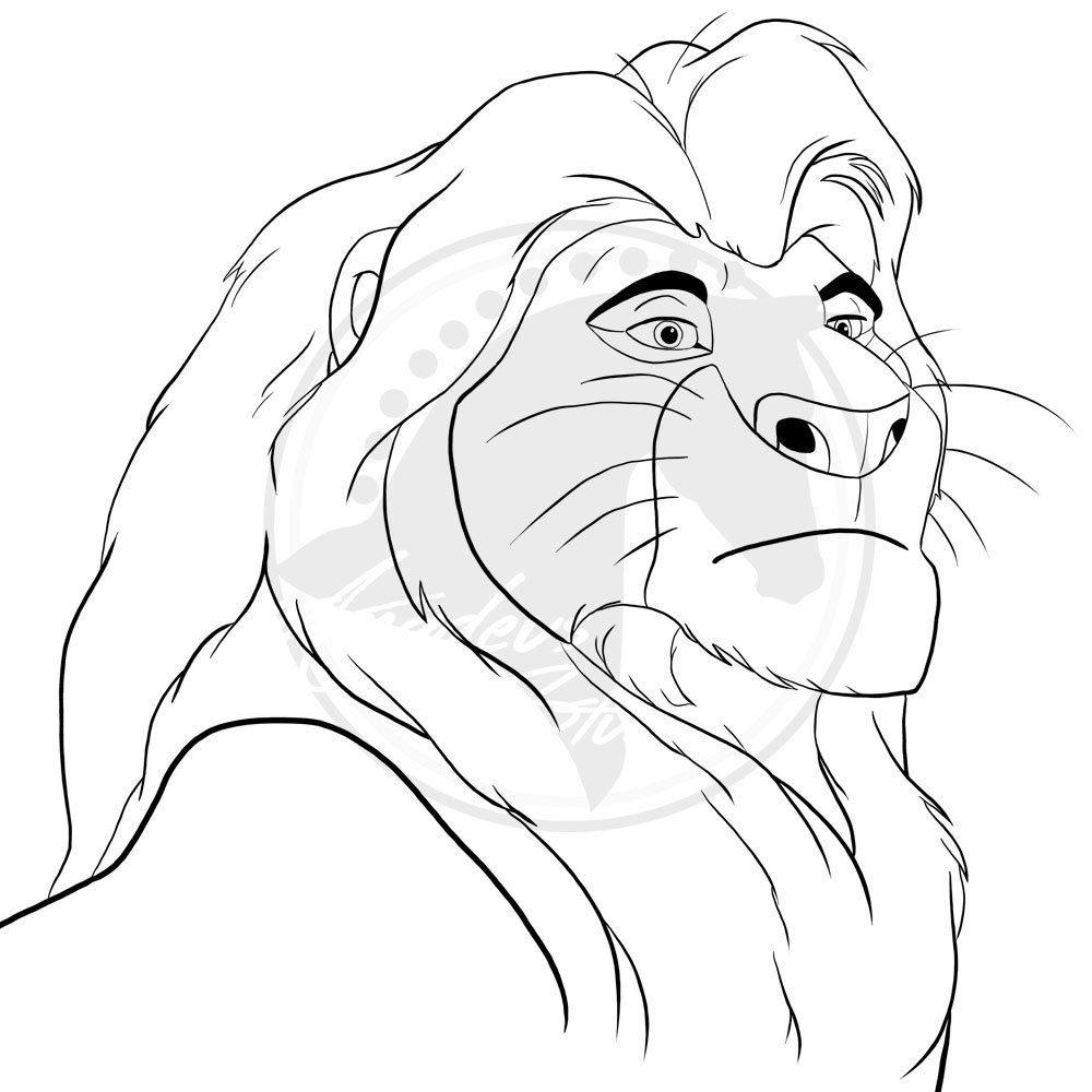 Mufasa-The Lion king by haidariadli on DeviantArt