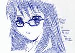 Futaba Aoi [Asobi ni Iku Yo!] - Pen Sketch by ScarletVanHalisha