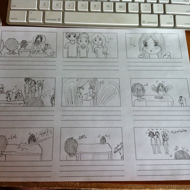 My Anime Storyboard By Freekissesforluckyu On Deviantart