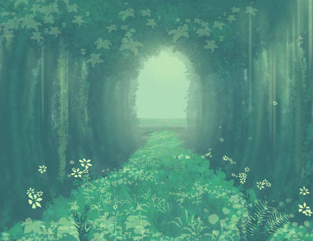 Brush Test 3: Forest Path