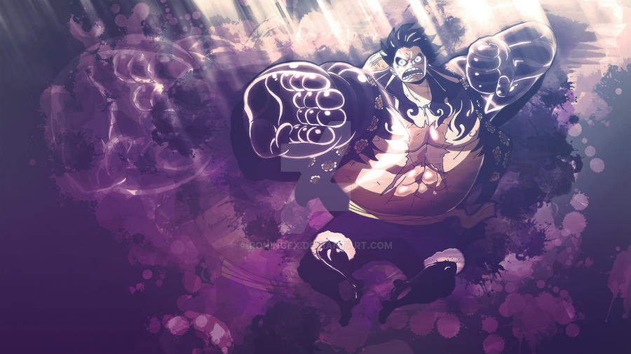 moneky d luffy gear 4 one piece by roningfx on deviantart