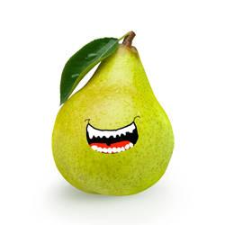 Biting Pear by Ryani