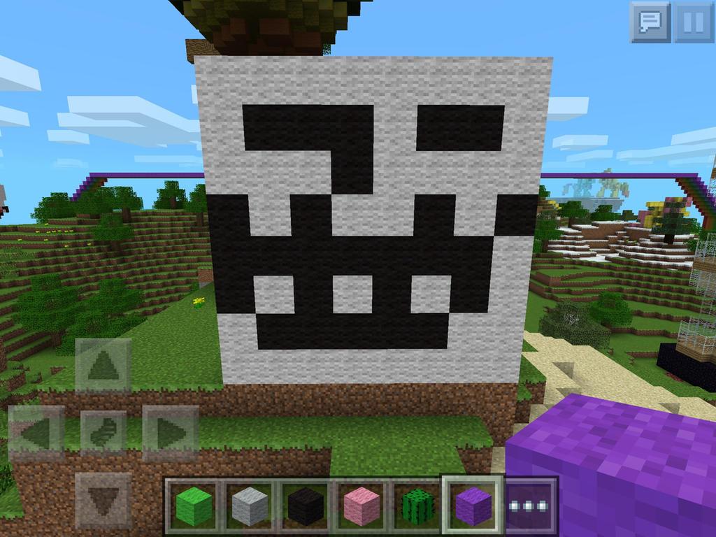 Minecraft PE Troll Face Skin Troll Face By Bonzibonbon On - Skins para minecraft pe de troll