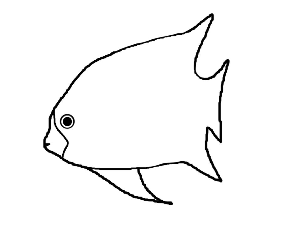 Line Drawing Of Fish : Fish line art by senshilineart on deviantart