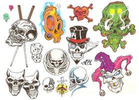 Flash Page - Skulls by bthslayr