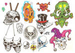 Flash Page - Skulls