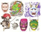 Flash Page - Noh Masks