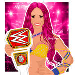 Sasha Banks | WWE Fan Art Illustration