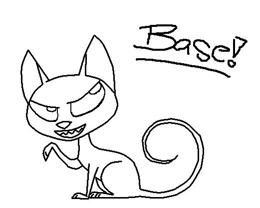 Evil Kitty Drawing Evil Kitty Base By Kikinas
