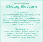 Font: CHEWY BLOSSOM - preview