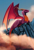 Mountain Dragon by Katherine-Olenic