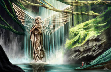 Angel waterfall by Katherine-Olenic
