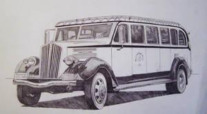 1936 National Park Bus by professorwagstaff