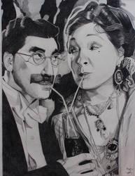 Groucho Marx and  Margaret Dumont by professorwagstaff