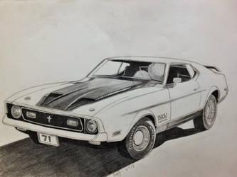 1971 Mach 1 Mustang by professorwagstaff