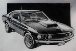 69 Boss Mustang 428 by professorwagstaff