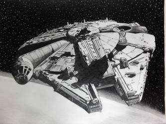 The Millennium Falcon by professorwagstaff