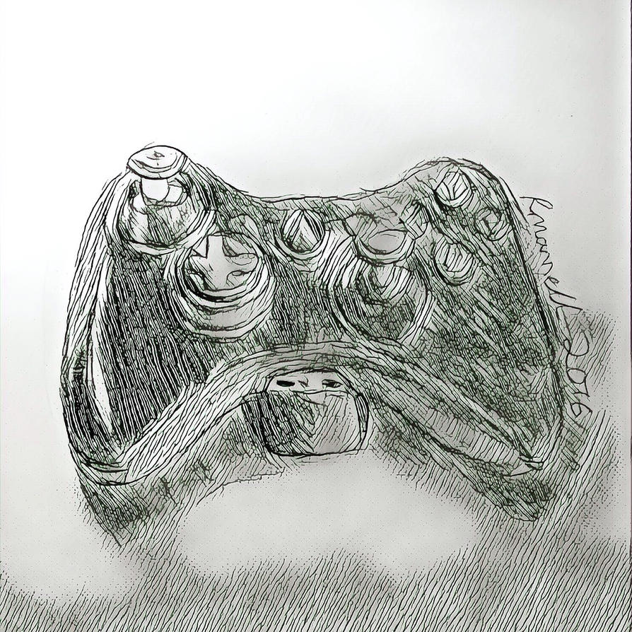 Xbox controller  by charcolized