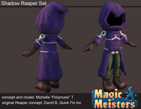 Magic Meisters: Shadow Reaper Outfit Set
