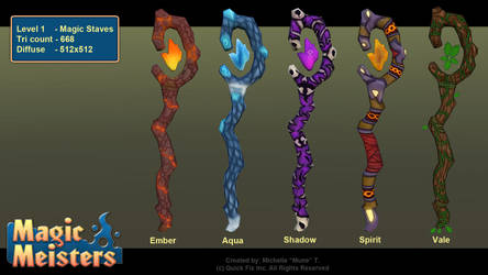 Magic Meisters: Level 1 magic staves