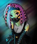 Cyber Doll Line Art