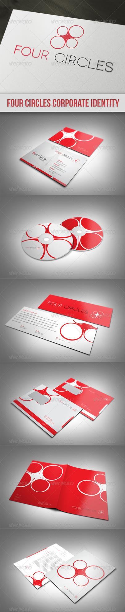 Four Circles Corporate Identity by UnicoDesign