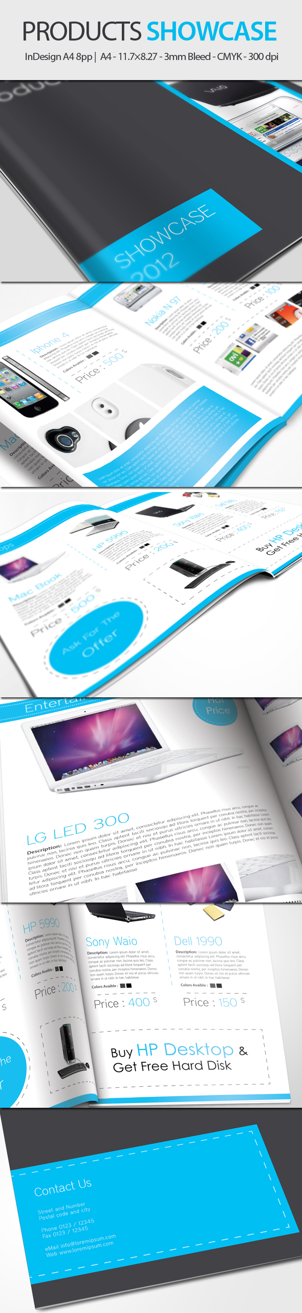 Products Showcase - InDesign A4 8pp by UnicoDesign