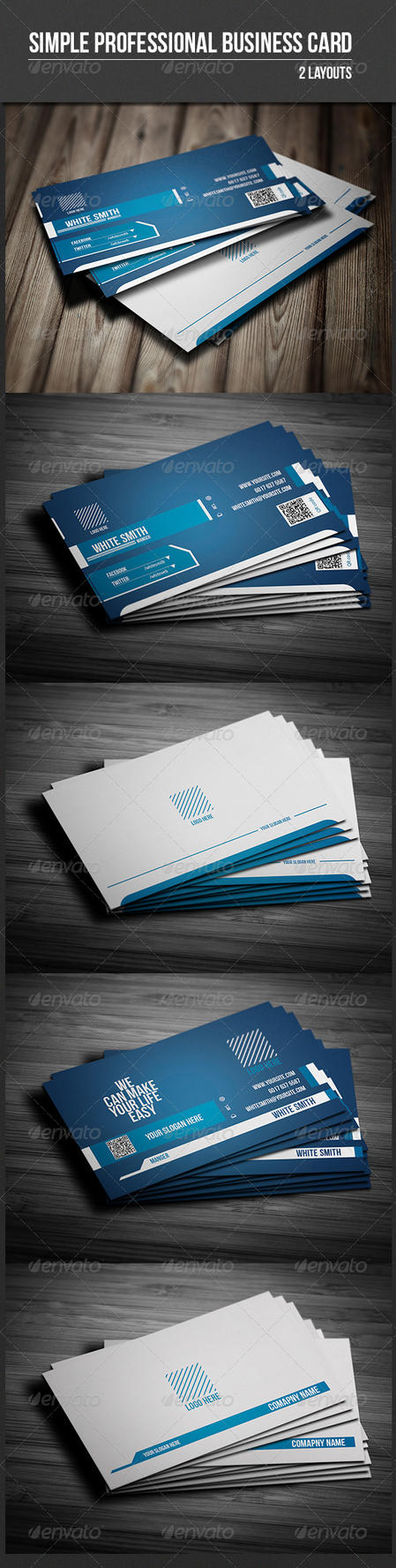Simple Professional Business Card by UnicoDesign
