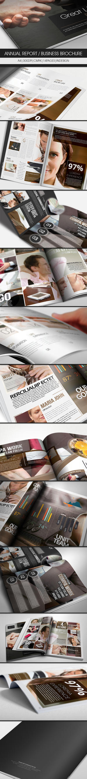 Annual Report / Business Brochure by UnicoDesign
