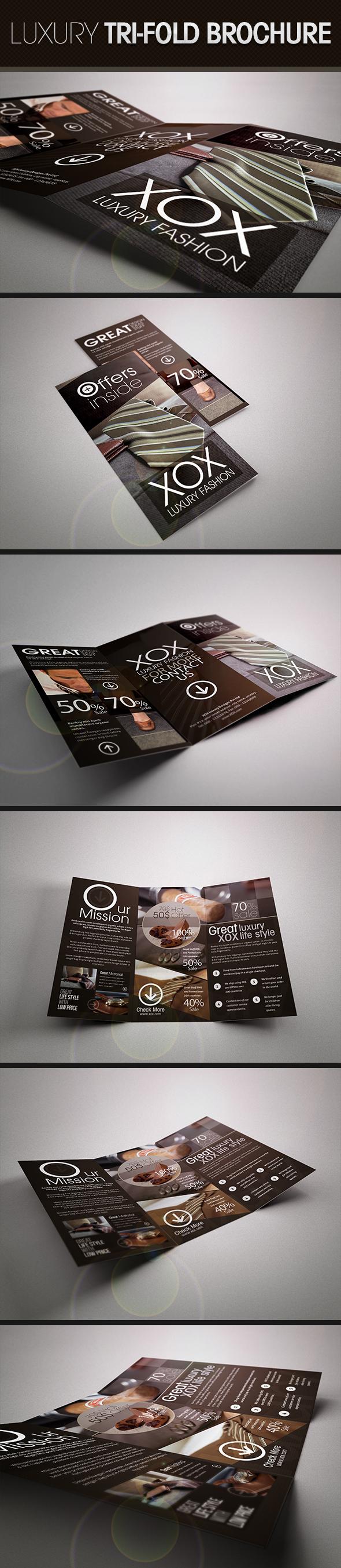 Luxury Trifold Brochure by UnicoDesign