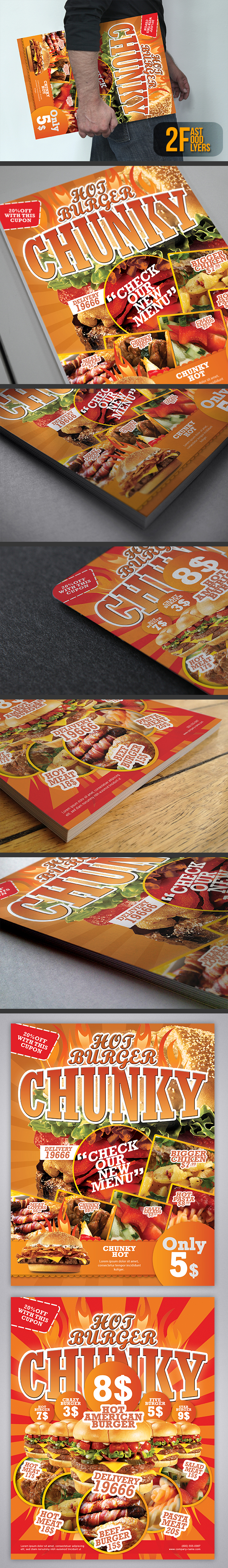 Fast Food Flyers / Magazine Ads by UnicoDesign